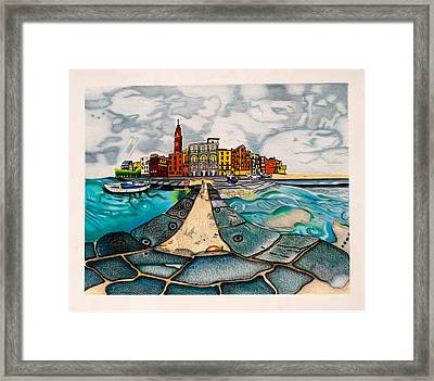 The City By The Sea Framed Print