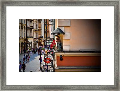 The City Can See You Framed Print by Joanna Madloch