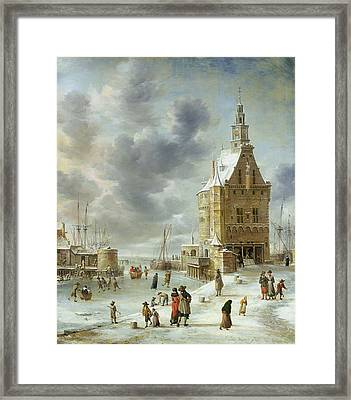 The City Gate Of Hoorn  Framed Print by Jan Abrahamsz Beerstraten