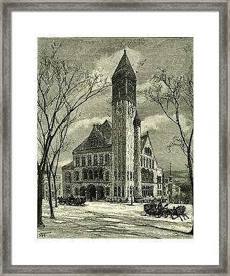 The City Hall Albany 1891 Usa Framed Print