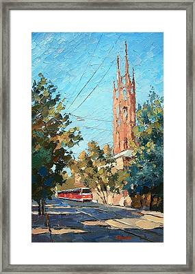 The City In The Afternoon Framed Print by Dmitry Spiros
