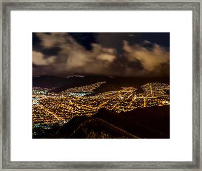 The City Of Aloha - Triptych Right Framed Print by Jason Chu