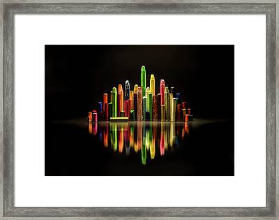 The City Of Colors Framed Print