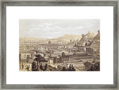 The City Of Ephesus From Mount Coressus Framed Print by Edward Falkener