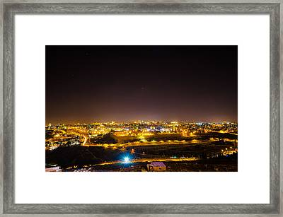 The City Of Jerusalem Framed Print by David Morefield