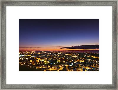The City Of Lights Framed Print