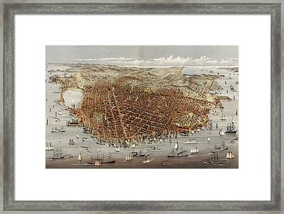 The City Of San Francisco Framed Print by Litz Collection
