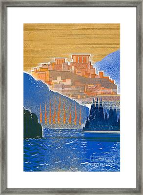 The City Of Troy From The Sea Framed Print by Francois-Louis Schmied