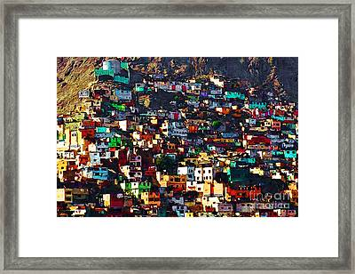 The City On The Hill V1 Framed Print by Wingsdomain Art and Photography