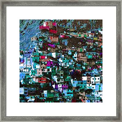 The City On The Hill V1p168 Square Framed Print by Wingsdomain Art and Photography