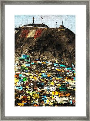 The City On The Hill V2 Framed Print by Wingsdomain Art and Photography