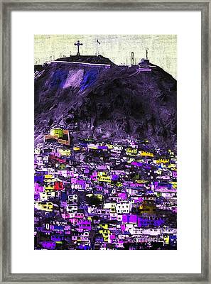 The City On The Hill V2p128 Framed Print by Wingsdomain Art and Photography