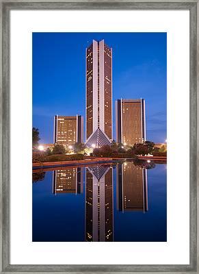 The Cityplex Towers - Tulsa Oklahoma Framed Print