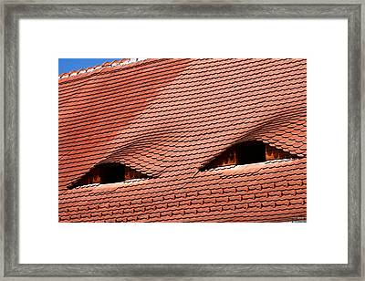 The City's Eyes Sibiu Hermannstadt Romania Framed Print by Daliana Pacuraru