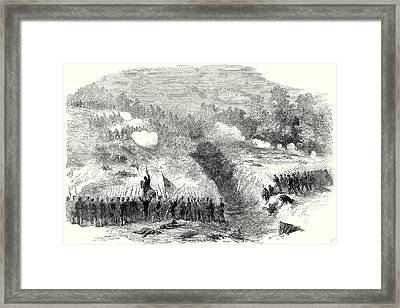 The Civil War In America Attack On The Confederate Framed Print by American School