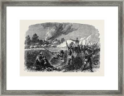 The Civil War In America Fight At Hainsville On The Upper Framed Print