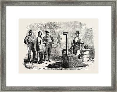 The Civil War In America Our Kitchen In The Camp Of The 2nd Framed Print by American School