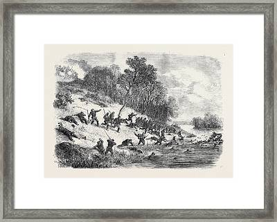 The Civil War In America Retreat Of The Federalists Framed Print