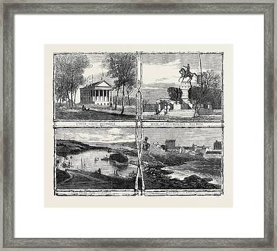 The Civil War In America Sketches From Richmond Virginia Framed Print by English School
