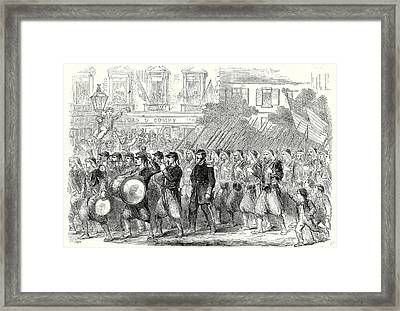 The Civil War In America The 5th Regiment Of New York Framed Print by American School