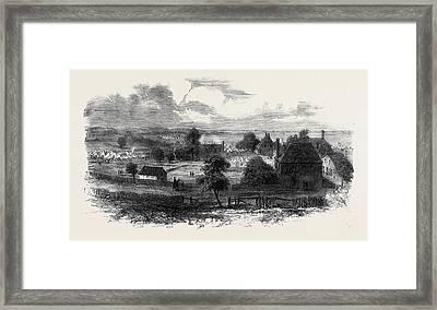 The Civil War In America View Of Yorktown Virginia Framed Print by English School
