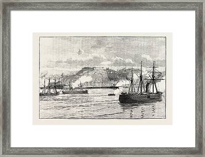 The Civil War In Chile Hostilities At Valparaiso Exchange Framed Print by Chilean School