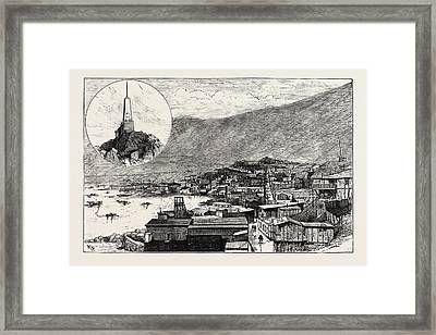 The Civil War In Chile Monument To Arturo Pratt Top Left Framed Print by Chilean School