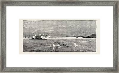 The Civil War In Chile The Opening Skirmish Off Valparaiso Framed Print
