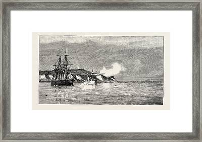 The Civil War In Chili Forts Valdivia And Yerbas Buenas Framed Print by English School