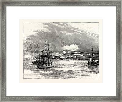 The Civil War In Chili, The Battle Of Vina Del Mar This Framed Print by English School