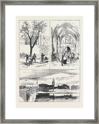The Civil War In Spain 1. Republican Guardia Foral Cutting Framed Print by Spanish School