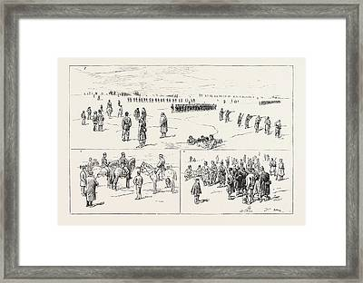 The Civil War In Spain Drilling Republican Troops Framed Print by Spanish School