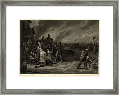 The Civil War, Martial Law. The Framed Print
