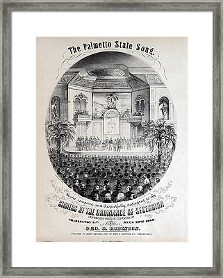 The Civil War, The Palmetto State Song Framed Print by Everett