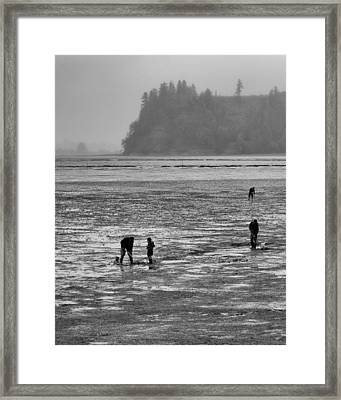 The Clam Diggers Framed Print by Bob Stevens