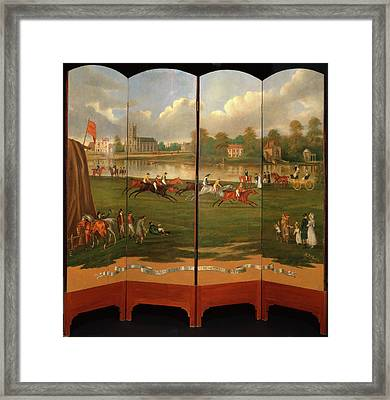 The Clarence Gold Cup At Hampton, London The Start Framed Print