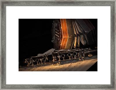 The Clarinet And The Concertina Framed Print by Ann Garrett