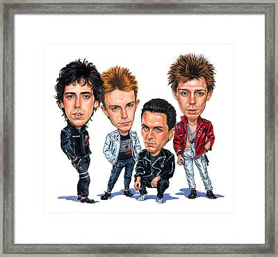 The Clash Framed Print by Art