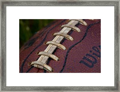 The Classic Leather Football Framed Print by David Patterson