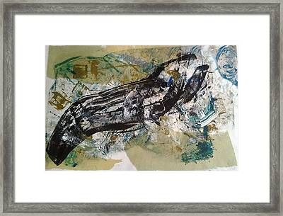 Framed Print featuring the painting the Claw by Lesley Fletcher