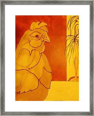 The Clay Chicken Framed Print by David Raderstorf