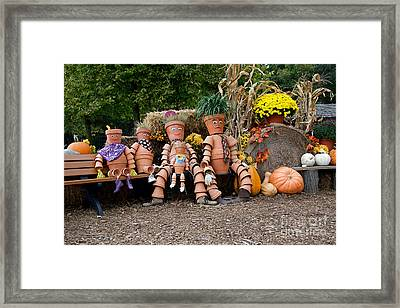 Framed Print featuring the photograph The Clay Family by Vinnie Oakes