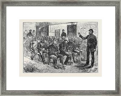 The Clerkenwell House Of Correction The Oakum Shed 1874 Framed Print by English School