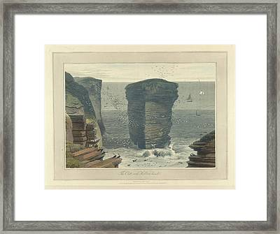 The Clett-rock Framed Print by British Library
