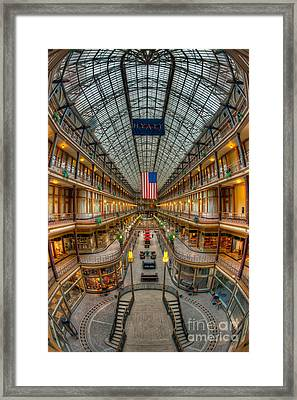 The Cleveland Arcade Vii Framed Print by Clarence Holmes