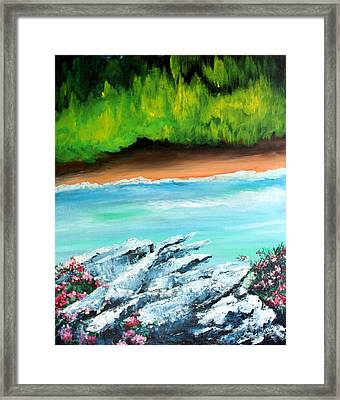The Cliff Framed Print