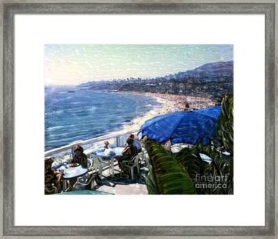 The Cliff Laguna Beach Framed Print by Glenn McNary