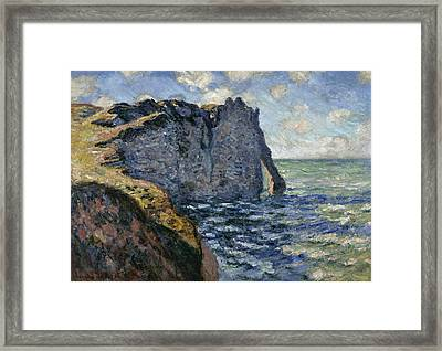 The Cliff Of Aval, Etretat, 1885 Framed Print by Claude Monet