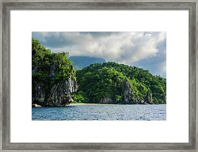 The Cliffs Around Puerto Princessa Framed Print by Michael Runkel