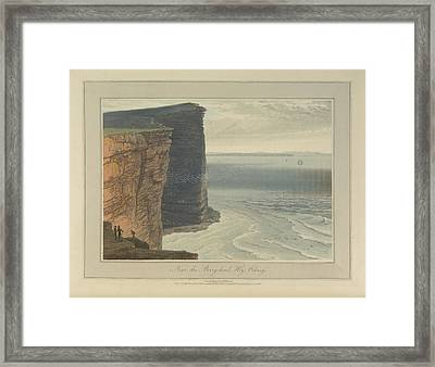 The Cliffs Near The Berryhead At Hoy Framed Print by British Library